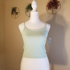 New with tags! American Eagle Mint Green Crop Tank Top Size Small